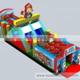 Hot sale rescue operation inflatable obstacle course for kids