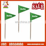 High Quality Paper Fruits Toothpick Flag