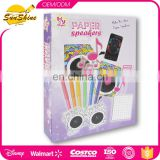 DIY coloring kit Great Create Paper Speakers
