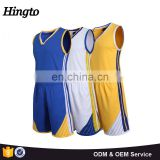 Yellow color men sleeves basketball uniform jersey logo design