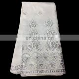 White Top Selling Latest African Fabrics George Lace/Fancy African Silk George Lace for dress H15112740
