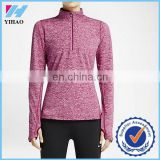 Trade assurance Yihao New Autumn custom hoodies half zip Women's blank hoodies/ plain hoodies