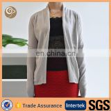 Women knitted shawl collar grey cashmere sweater