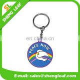 custom printed logo round soft pvc rubber keychain for sale