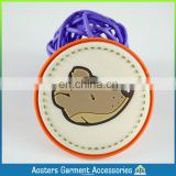 customized 3D pvc rubber patch personalized fashion garment labels tags for clothing shoes