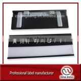 OEM Wholesale Stock Item Custom Logo Printed Aluminum Alloy Material Black Color Painted Metal Reusable Name Badge