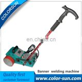Leister gun automatic hot air flex banner welding machine