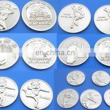 wholesale custom sport commemorative challenge metal silver coin