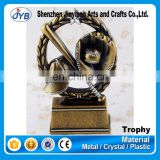 New design Resin Baseball MittenTrophy in Metal Arfts & Crafts