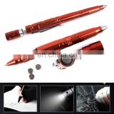 10 Hour LED Work Time 15mm Diameter Business Gift LED Self Defense Titanium Tactical Pen Light