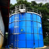 GFS drinking water storage tank with Aluminum deck roof in Latin America