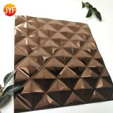 304 3D Pattern Customized Anti-corrosion Stamped Color Coated Stainless Steel Sheet Wall Panel Decoration
