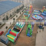 Giant durable inflatable beach obstacle playground,inflatable outdoor climb obstacles sports games for fun