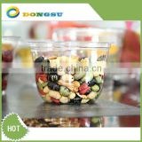 PET plastic jelly cup, fruit and nut packaging, customized logo, factory in Zhejiang Dongyang