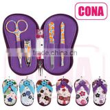 Manicure Pedicure Set,the elegant slippers shaped,cute 4pcs of tools