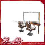 Morden and fancy hairdressing equioment, led beauty hair salon mirrors with light station for sale