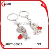 personalized couple keychain boy and girl kiss cheap metal keychains                                                                         Quality Choice