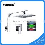 "Wall Mounted 8"" LED Rain Shower Faucet Single Handle Valve Mixer Tap"