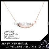 Thick silver chain men's necklace 22k gold necklace wholesale chunky bubblegum necklace