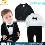 Spring & Autumn New Arrival Gentleman Kids Clothes Baby Boy Cotton Long Sleeves Jumpsuits Breathable Handsome Boy Clothing Suit