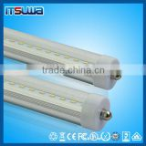 Energy saving UL ce rohs 45W 96 inch 8ft 8 ft single pin t8 led tube with aluminum body&PC cover