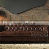 the best selling office sofa / vintage chetisfield leather sofa A100