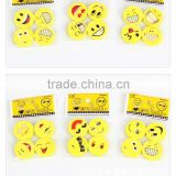 Always happy creative hello smile baby kids playing yellow eraser fancy toys