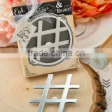 'Hashtag Love' Chrome Finish Silver Metal Bottle Opener - Wedding Favor and Gifts