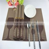 Dark brown coffee color wine cup background picture placemat45*30cm for table decoration