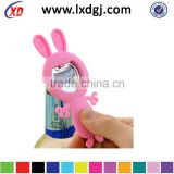 cute shape bottle opener& can swist, silicone bottle/ can opener, cute cartoon bottle opener