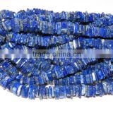 Natural Lapis Lazuli Heishi Shape Beads 16''Inch Approx Top Quality On Whole Sale Price.