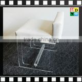 2016 fashional transparent/clear acrylic dining luxury chairs with leather/cushion for home/hotel/office