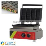 Professional electric 4 pcs hot dog stuffed waffle baking machine                                                                         Quality Choice