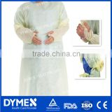 Thumb up Disposable Nonwoven Latex Free Coated PE Isolation Gown