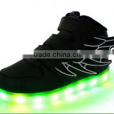 cool led light shoes,new arrival wholesale OEM customized luminous fluocrescent light running shoes stylish top shoes