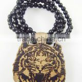 2015 custom fashion hiphop wooden necklace