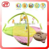 Cute animal pendant soft plush cheap baby play mat