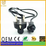 Top selling AC 2 pin female male power cord connector for LCD HDTV CRT monitor Hometheater Video projector