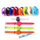waterproof 13.56MHz RFID Wristband MF1 1K S50 ISO14443A 10 colors offer LOGO Printing