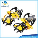 10 teeth climbing telescopic antiskid spike ice snow shoe crampons