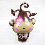 animal shaped mylar balloon inflatable toys cute monkey