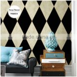 the most popular printing vinyl wallpaper, black modern geo wall decor for wedding house , decoration wall decal shop