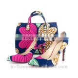 Quality Wholesale fabric matching shoe and bag set (Shoe size 38-41)