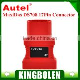 2015 new arrival 100% Original 17Pin Connector For Toyota For Autel MaxiDas DS708 Scanner