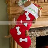 Personalize Christmas Stockings for Dogs/dog christmas stockings/wholesale christmas stockings