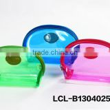 LCL-B13040254 anti wrinkle super soft pvc transparent customized fashion cosmetic bag