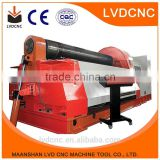 W11 series 6mm plate rolling machine, 3 rollers automatic plate rolling machine, nc roll bending machine