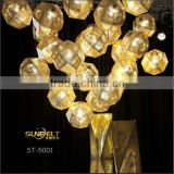 ST-5001 Sunbelt Engraved stainless steel iron pendant light,pendant light fixtures,metal pendant light.