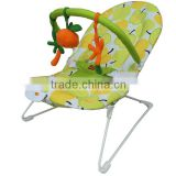 Adjustable light weighted musical baby rocker cradles with lovely toys