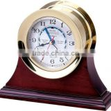 BRASS & WOODEN TABLE CLOCK-WOODEN MANTEL SHELF/TABLE CLOCK 2047